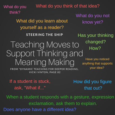 Steering the shipTeaching moves to support thinking and meaning making by Vicki vinton